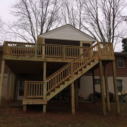 deck stair case complete